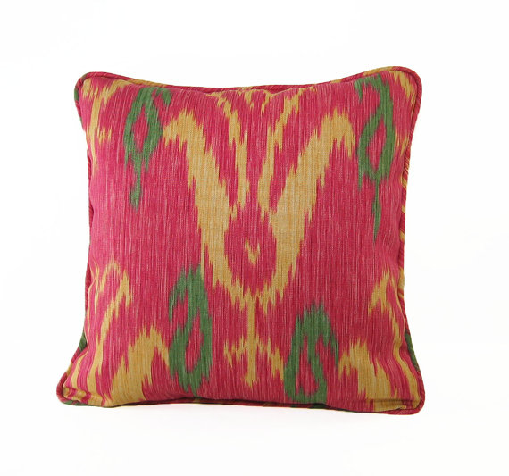 Accessory Teas #2 - My Raspberry Ikat Pillow