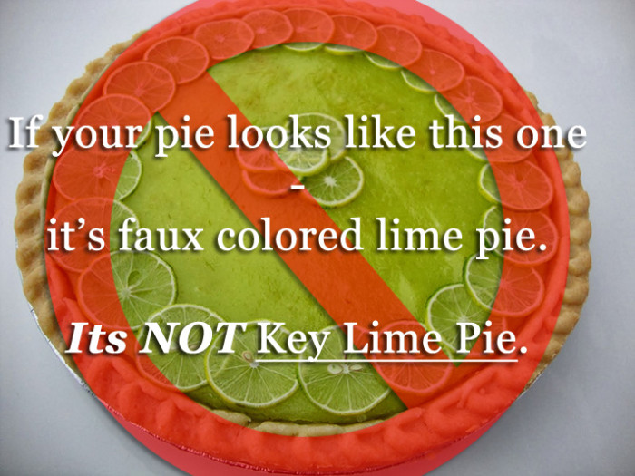 Say no to GREEN Key Lime Pie