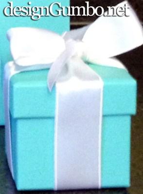 Tiffany's blue ring box with ribbon