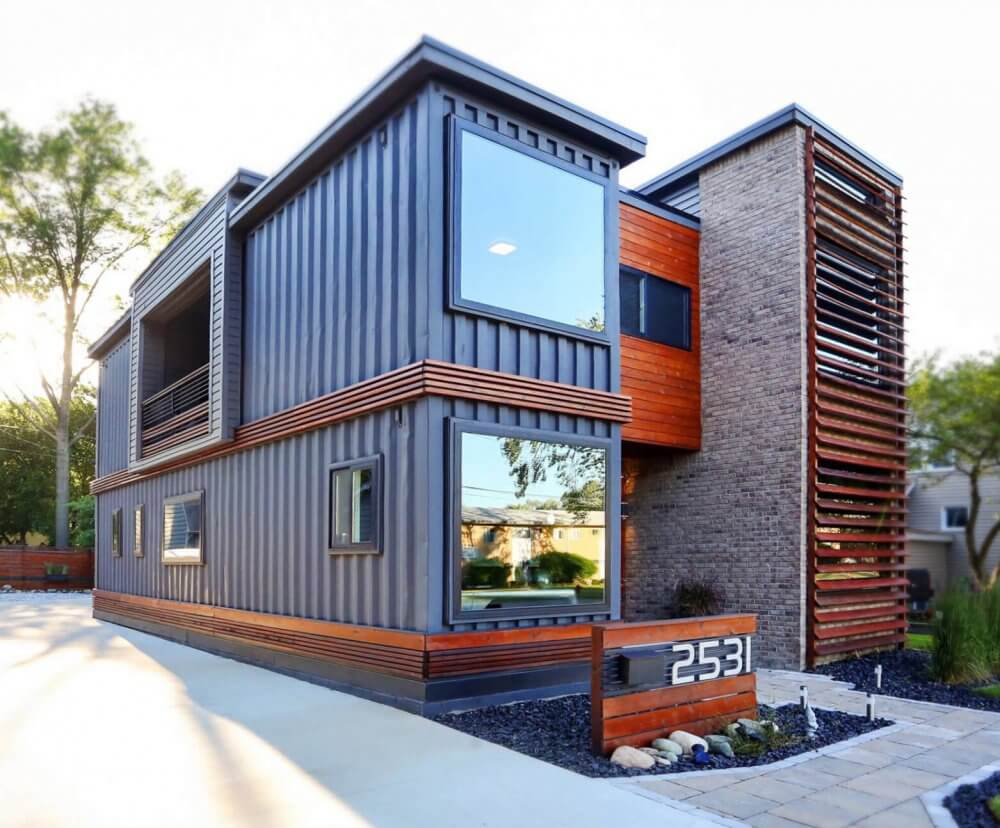 Finished Container Home  Designhaus Architecture