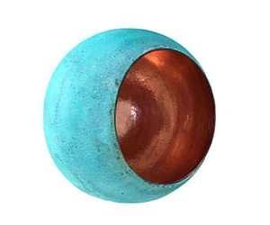 Oxideret kobberlampe - smuk billig balilampe