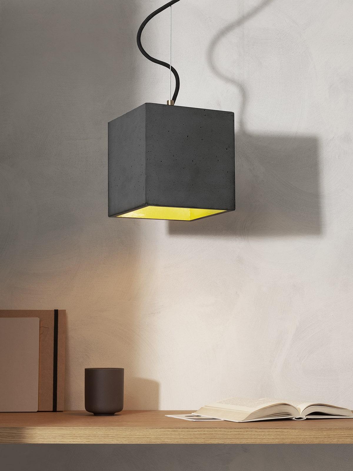 Kubustisk beton lampe