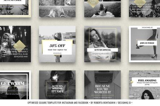 Chic - Social Media Template Bundle - Design HQ