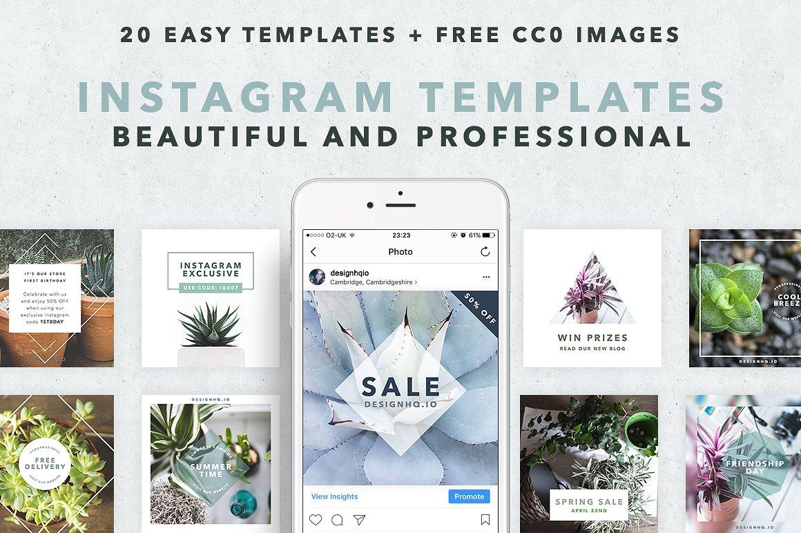 Instagram Social Media Template Clean Design Hq