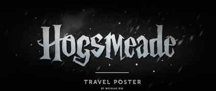 Hogsmeade Travel Poster by Nicolas Rix