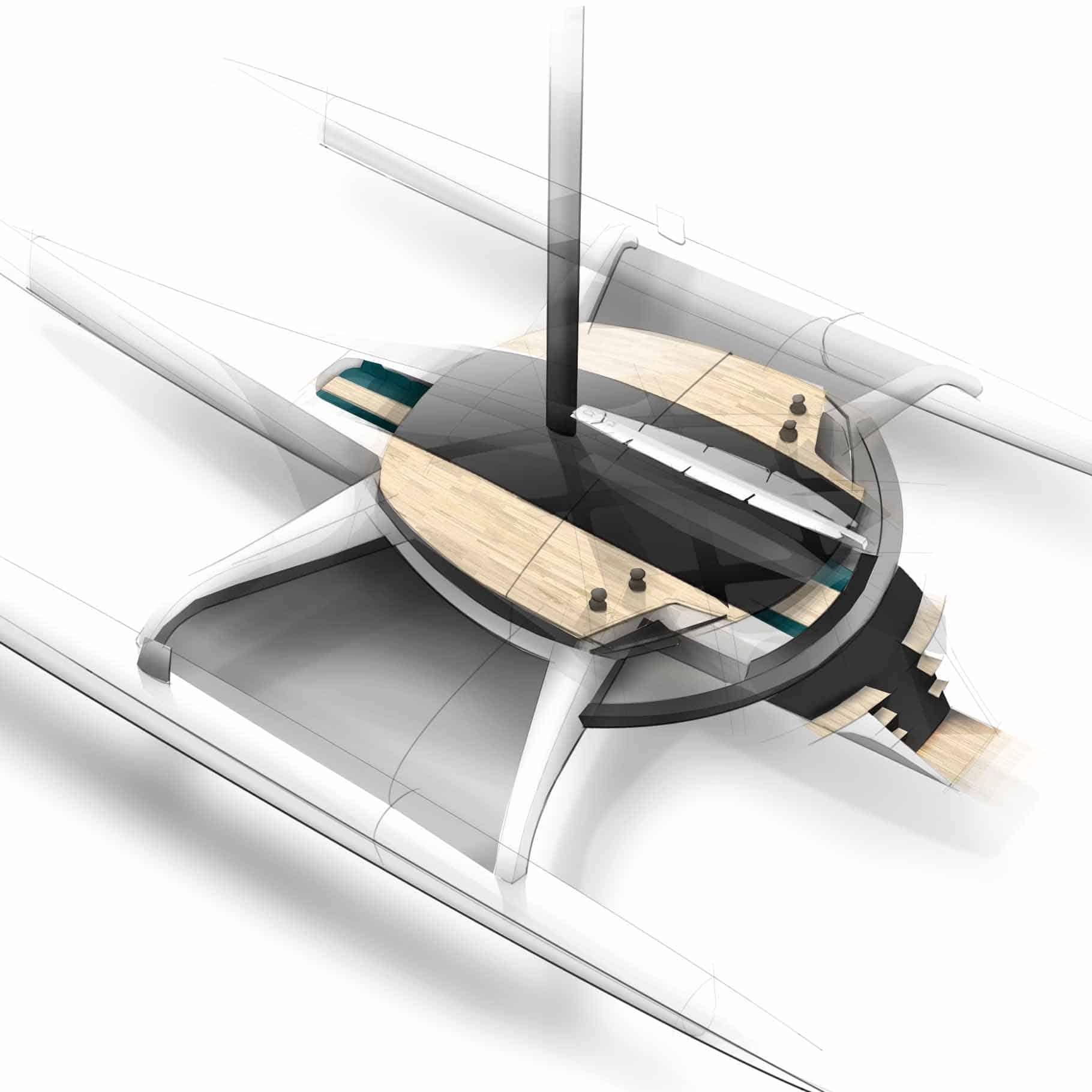 Yacht trimaran by alibi yachts design ideas for Yacht design milano