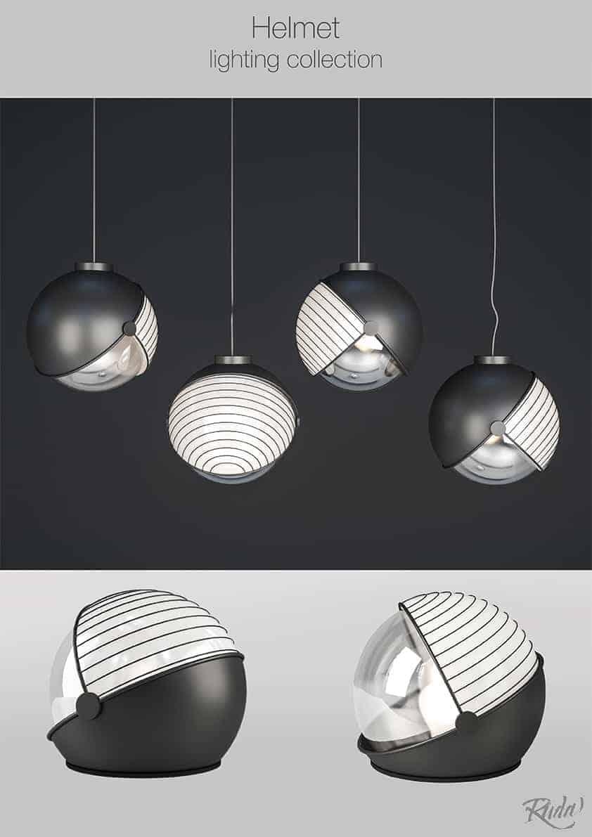 Helmet Lighting Design Ideas