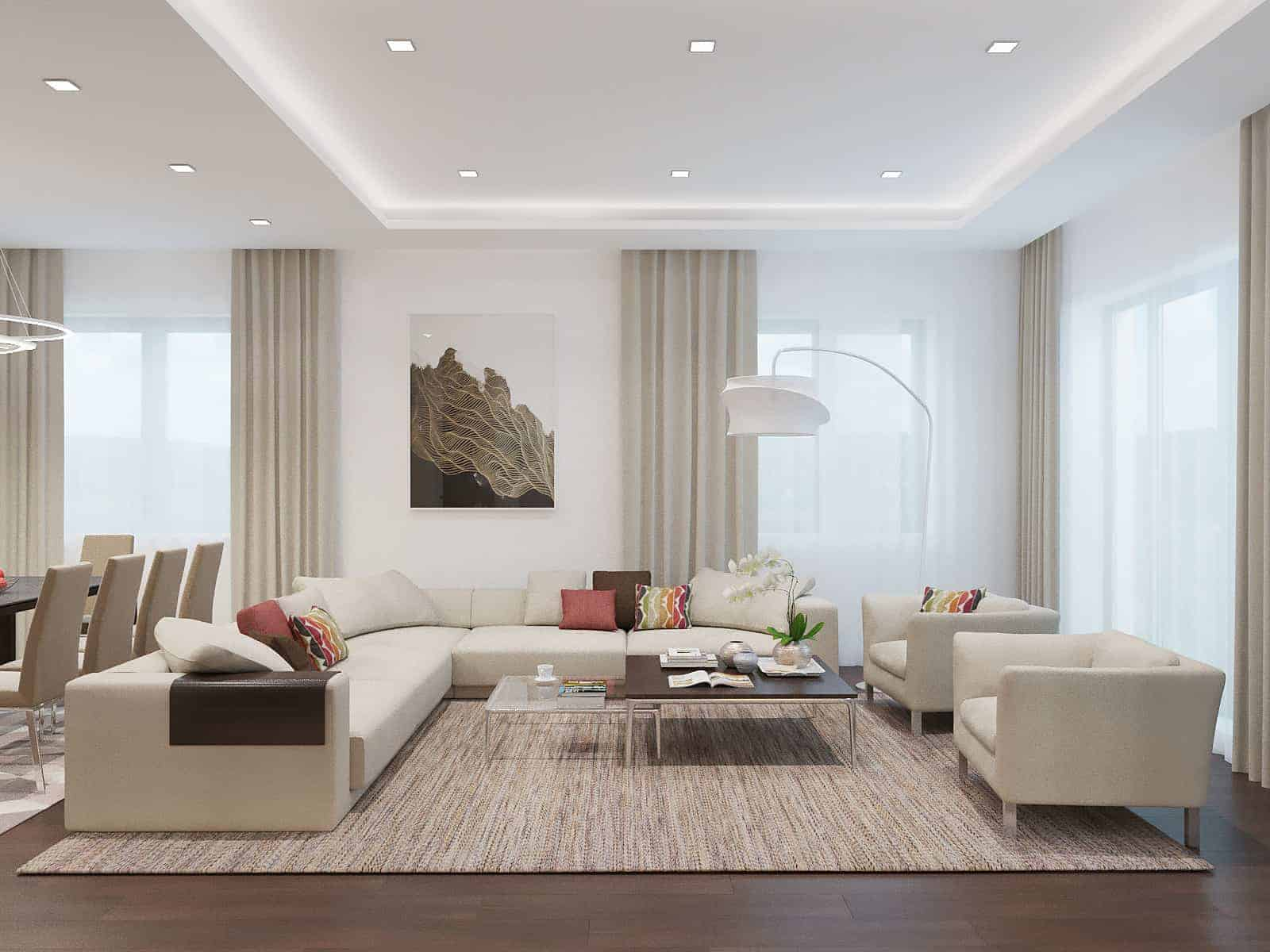 Living Room With Light Colors  Design Ideas