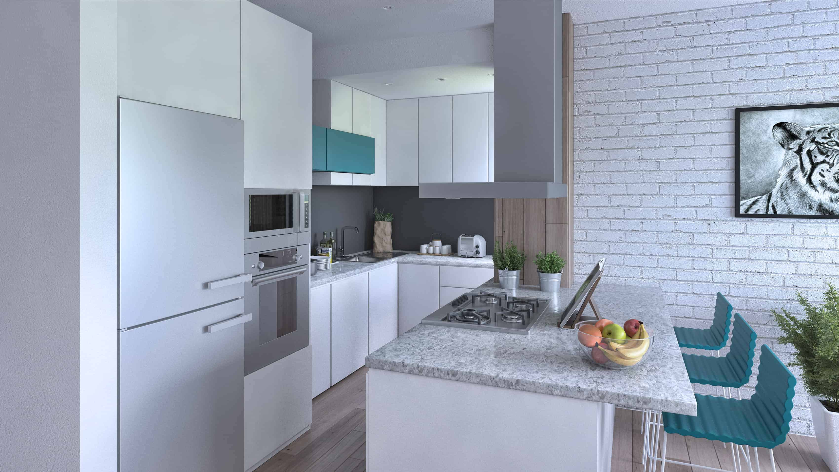 Prashka Kitchen Design Ideas How To Build Courtesy Light V Ray Render Engine Is Used For Texturing And Lighting The Scene Lightened With Dome That