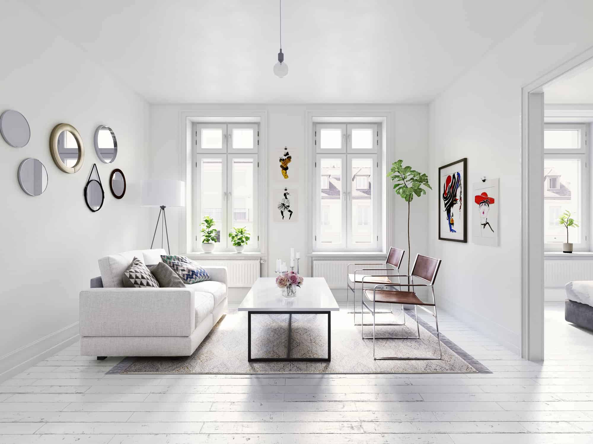 People Usually Like The White Color And Simplicity In Interior Scandinavian Is Very Popular Style Nowadays