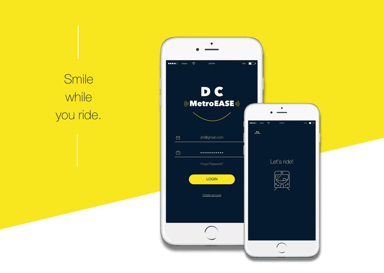 DC MetroEASE Mobile App  Design Ideas