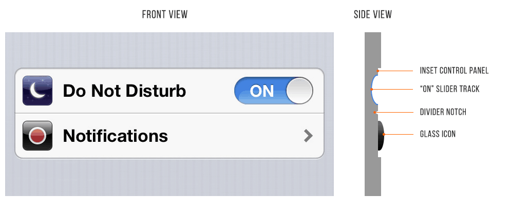 UI Design iOS6 Setting Screen