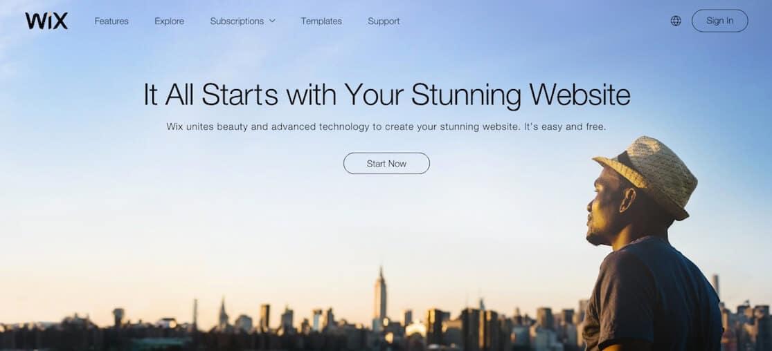 Free Wix Website Portfolio