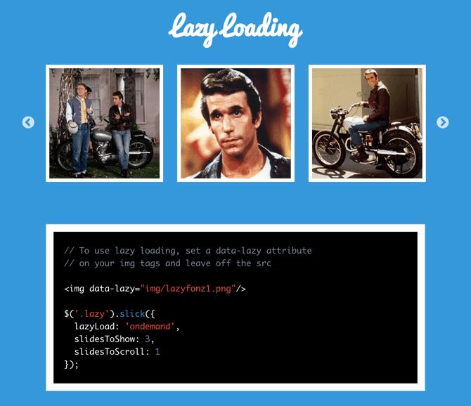 slick lazyload slider javascript