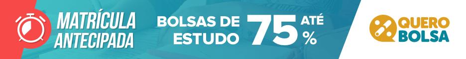 matrícula antecipada - bolsa de estudos de até 75% no site Quero Bolsa