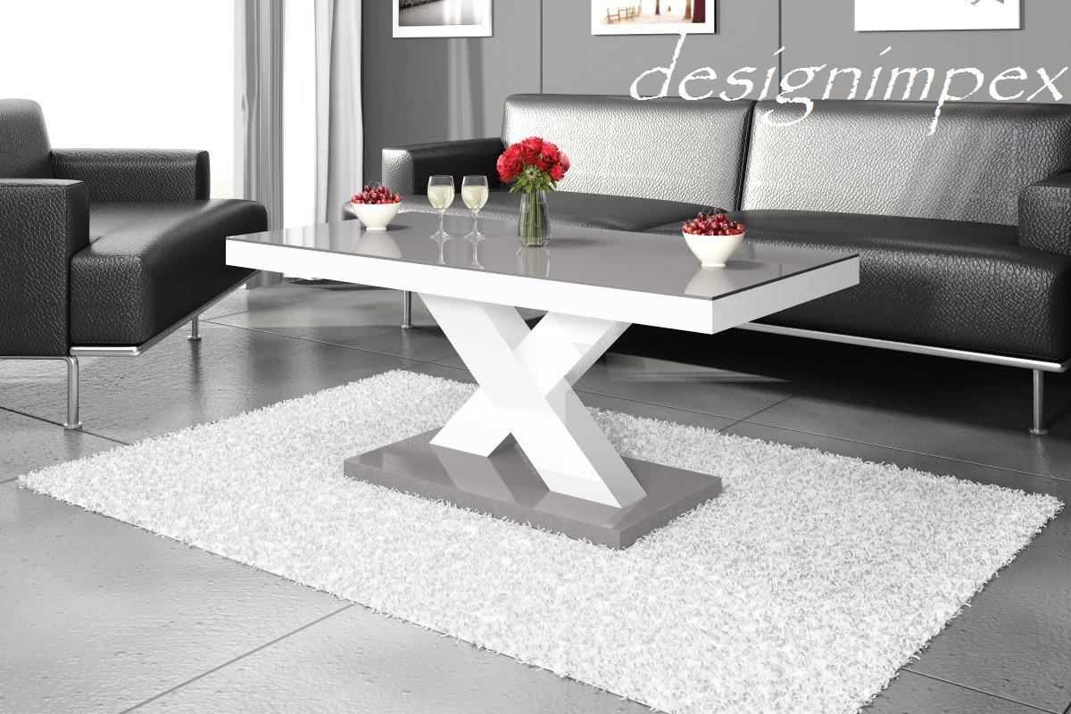Design Couchtisch H888 Wei  Grau Hochglanz Highgloss Tisch Wohnzimmertisch Hochglanzmbel