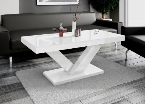 Design Couchtisch HV888 Wei Hochglanz Highgloss Tisch Wohnzimmertisch Hochglanzmbel Couchtische