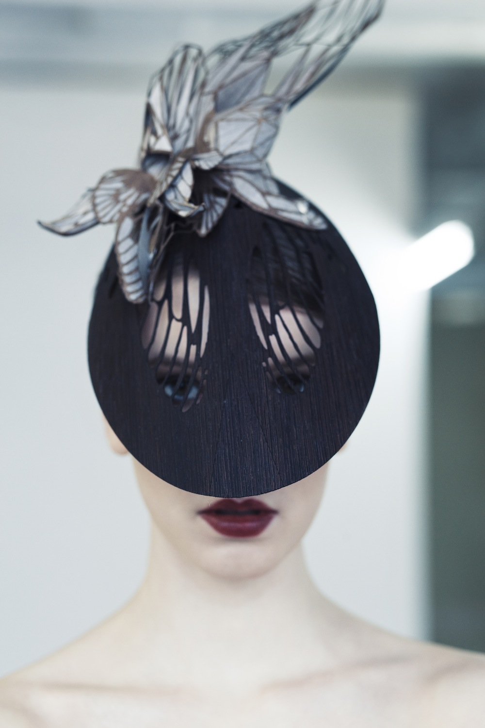 Emma Yeos haute couture hats carved from wood  Design Indaba