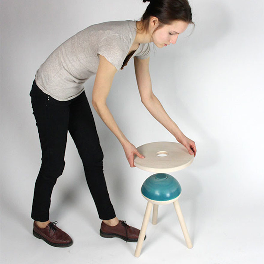 walker bouncing chair folding dining a stool for people who can't sit still | design indaba