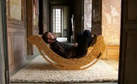 An ecodesign rocking chair made from recycled plastic ...
