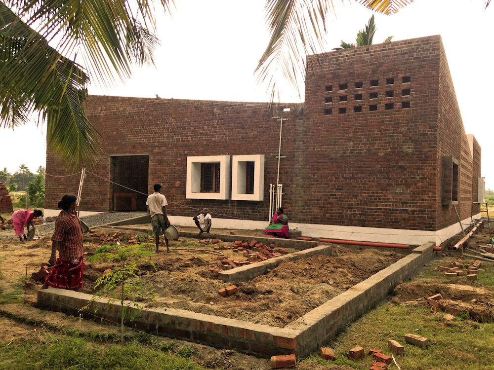 A Contemporary Raw Brick House In India Shelters Orphaned Children