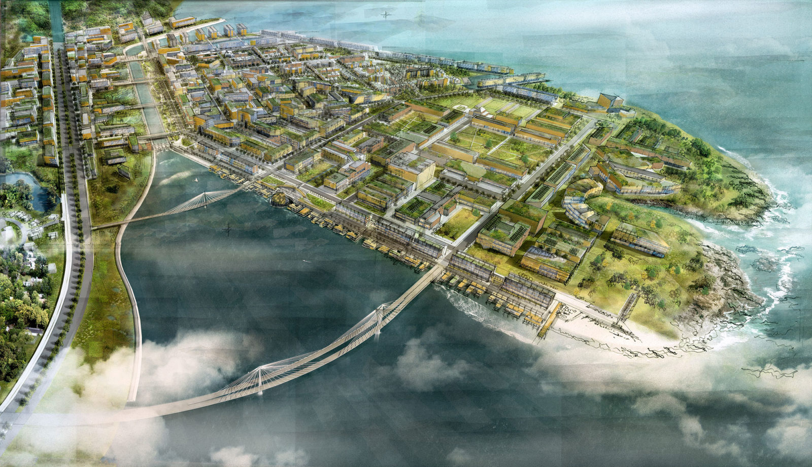 A new hydroelectric canal reuses fresh and marine water to