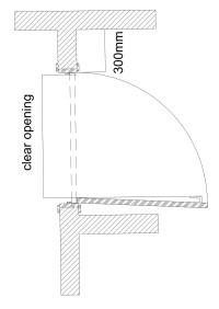 Door clear opening width - Designing Buildings Wiki
