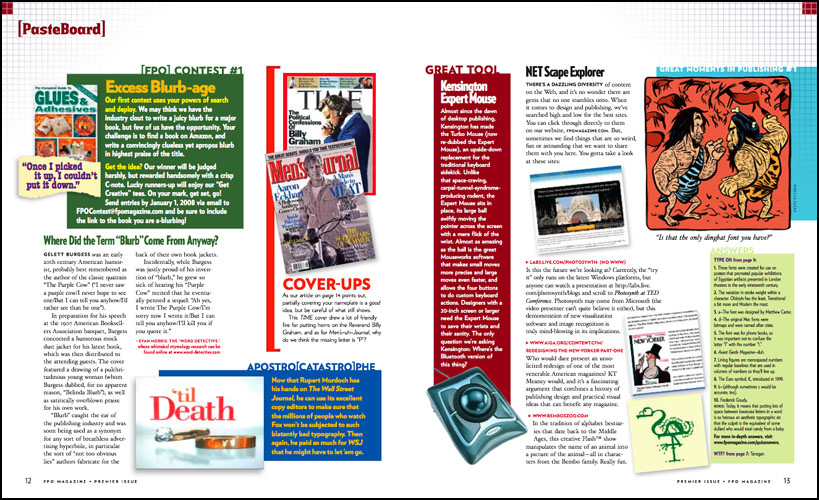 Designing Magazines » Blog Archive » Faux Pas Only