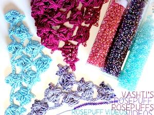 Rosepuff crochet videos by Vashti