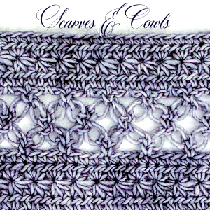 Northern star stitches and southern lover's knots in one stitch pattern.