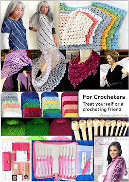 Splurge-worthy for 2018: Doris Chan patterns, Vashti's investment patterns, yarns, hooks, and the new Delicate Crochet book