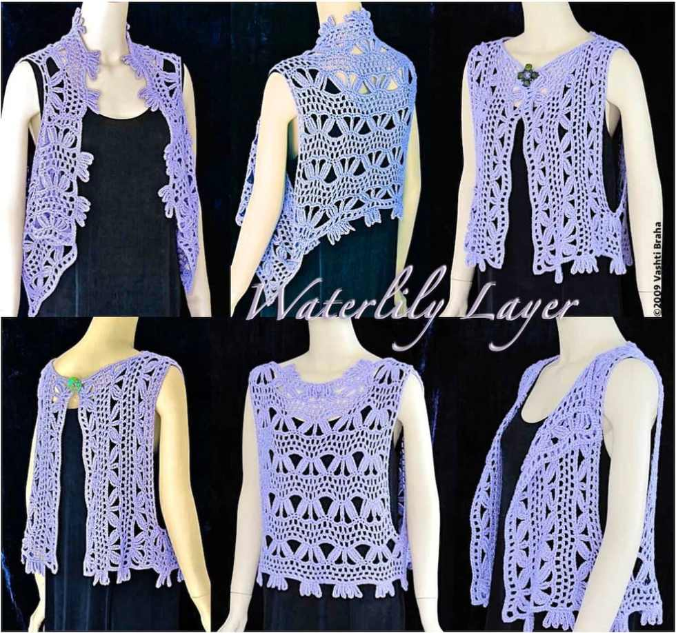 Six views of wearing simple vest shape