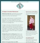 A screenful of the original2-column newsletter with teal border, pale teal background, logo in header.