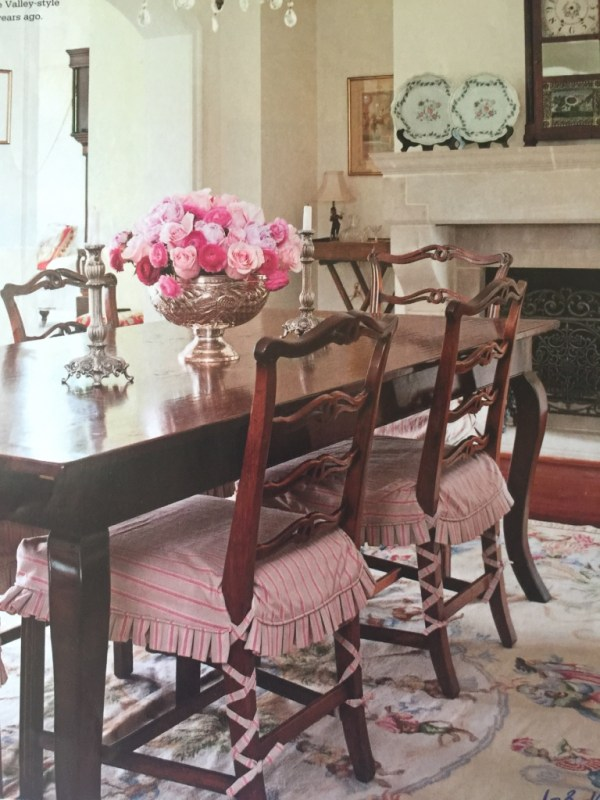 Slipcover dining chairs