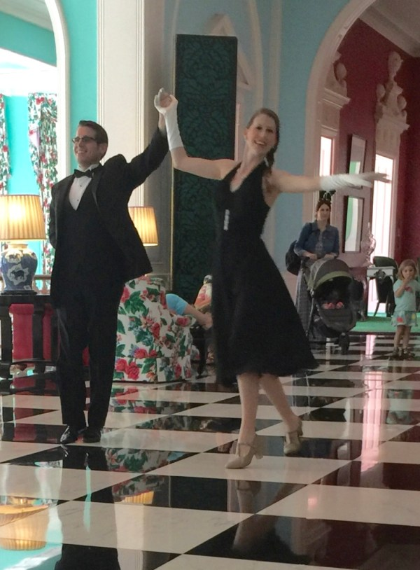 Greenbrier couple dancing a waltz.
