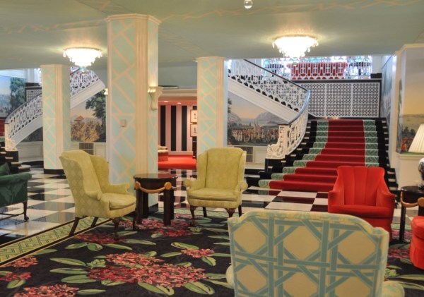 Greenbrier seating area that has chairs and sofa's.