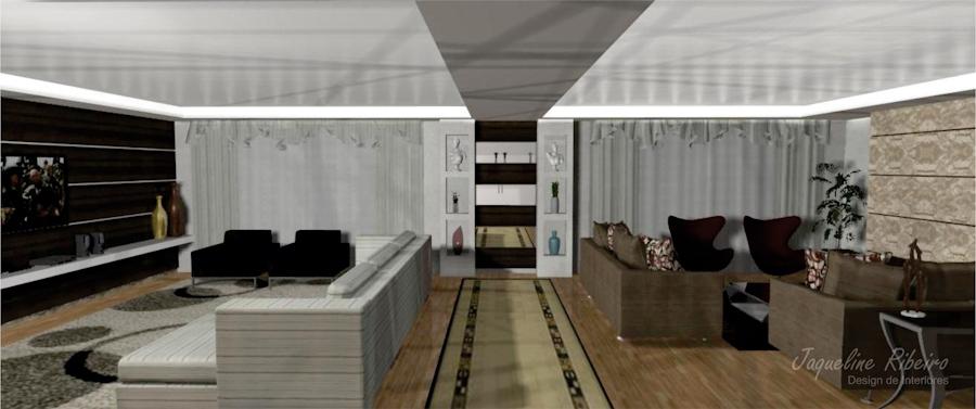 Sala de estar e home theater  Design Interiores