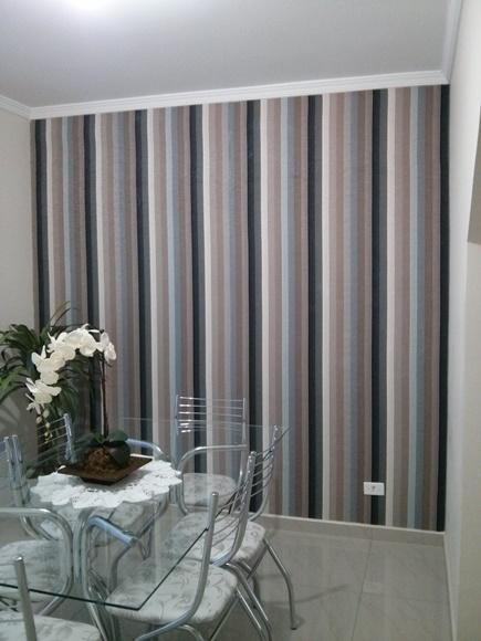 Decorao tecido na parede  Design de interiores