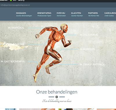 Sport en Massage Bodegraven - Projecten - Designique