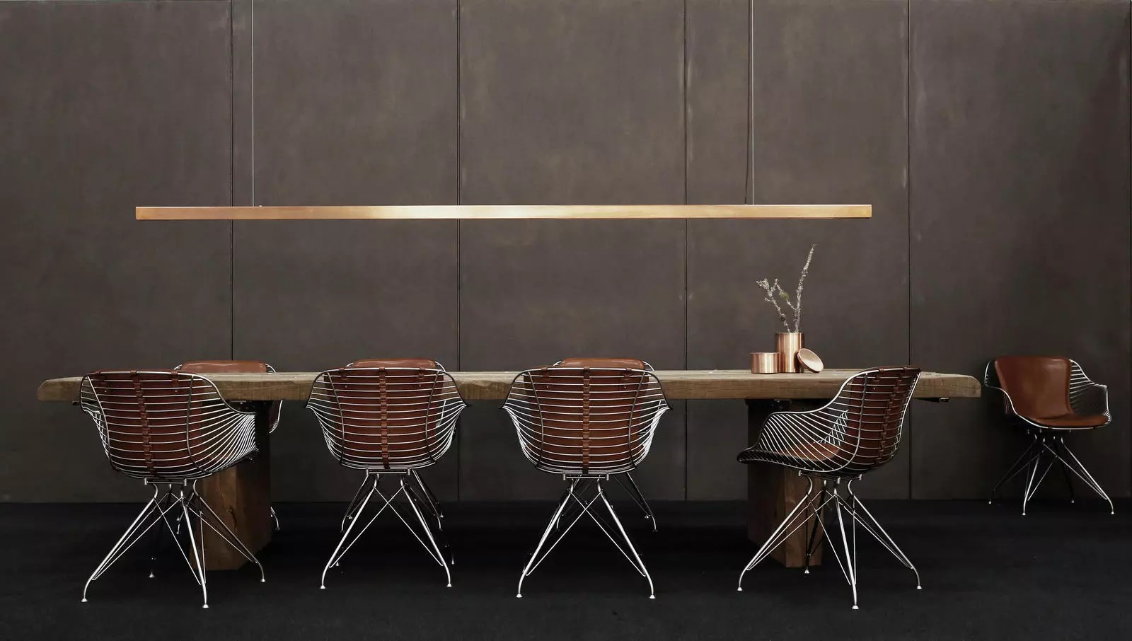 wire dining chairs folding chair wall mount by overgaard and dyrman design is this
