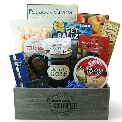 Golf Gift Baskets Front 9 Golf Gift Basket DIYGB
