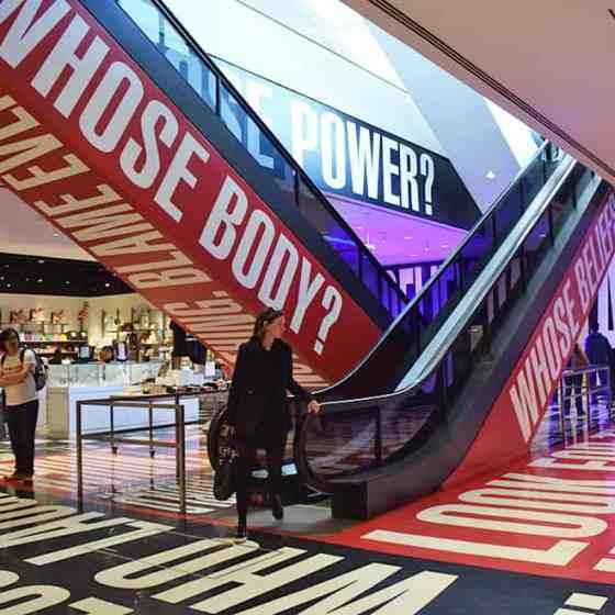 Barbara Kruger Exhibit at the Hirshhorn, Washington, DC