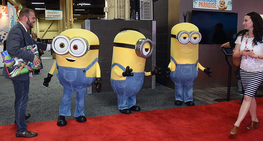 Minions at the Licensing Expo