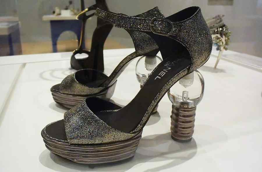 Chanel light bulb heel shoes