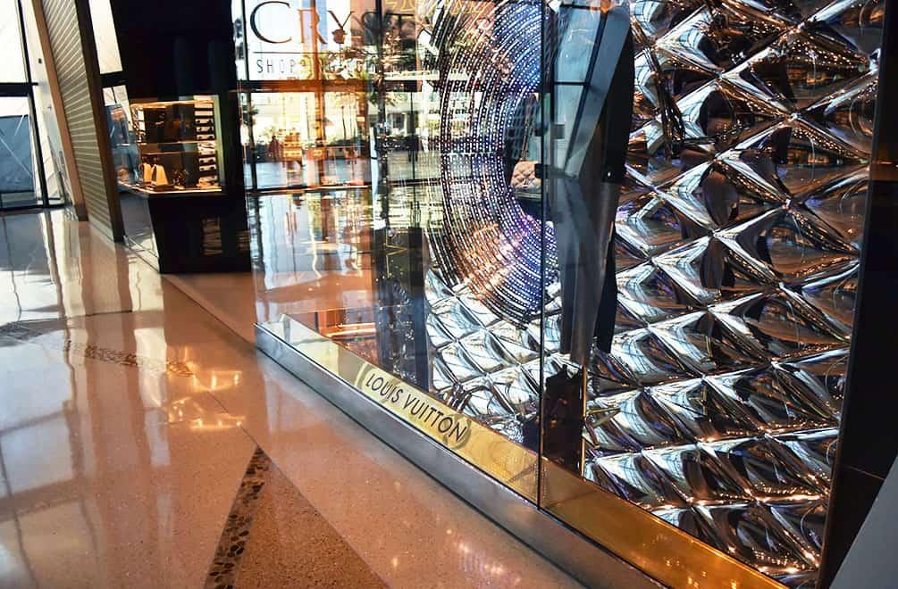 Entrance to Louis Vuitton Las Vegas at James Turrell artwork