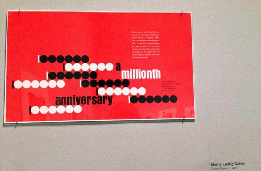 Elaine Lustig Cohen Millenium Books Ad