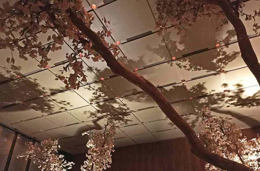 Four Seasons Restaurant ceiling shadows before closing