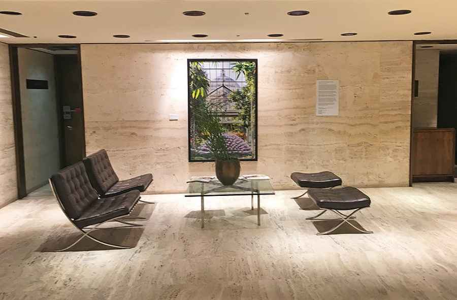 The lobby to The Four Seasons Restaurant, New York