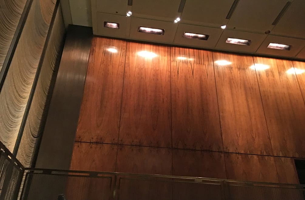Four Seasons Restaurant Wood Panels
