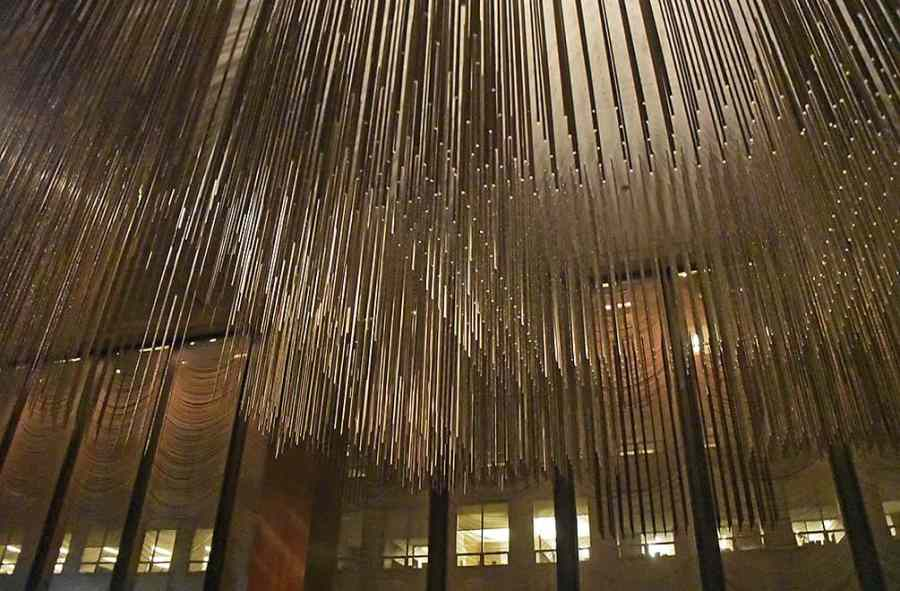 Sculpture by Richard Lippold for the Four Seasons Restaurant